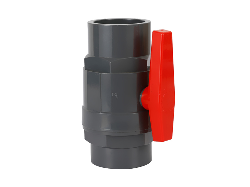 UPVC TWO PIECES BALL VALVE - PLASTIC HANDLE