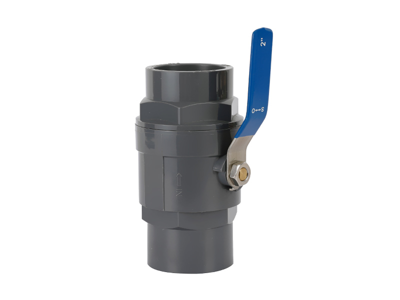 Plastic PVC Two Pieces Ball Valve - SS Handle