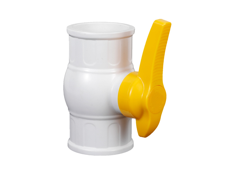 1/2-2 Inch Plastic UPVC Irrigation Water Thicker End Ball Valve With Yellow Handle