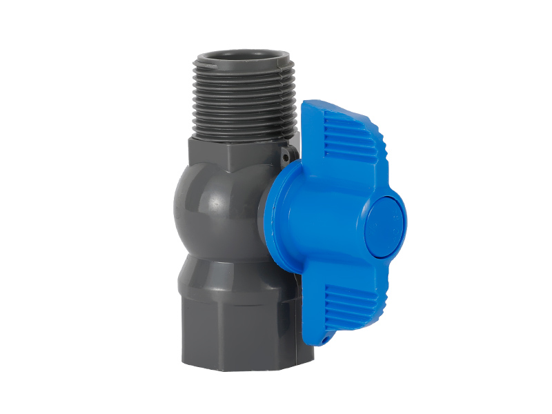 1-2 Inch Plastic Female Threaded And Male Ball Water Valve