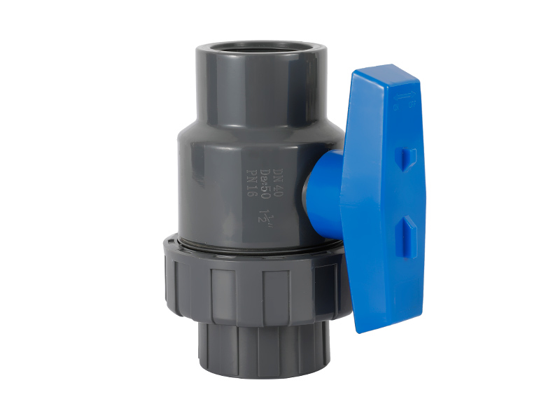 Plastic UPVC SINGLE UNION BALL VALVE