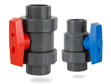The plastic ball valve is evolved from the plug valve